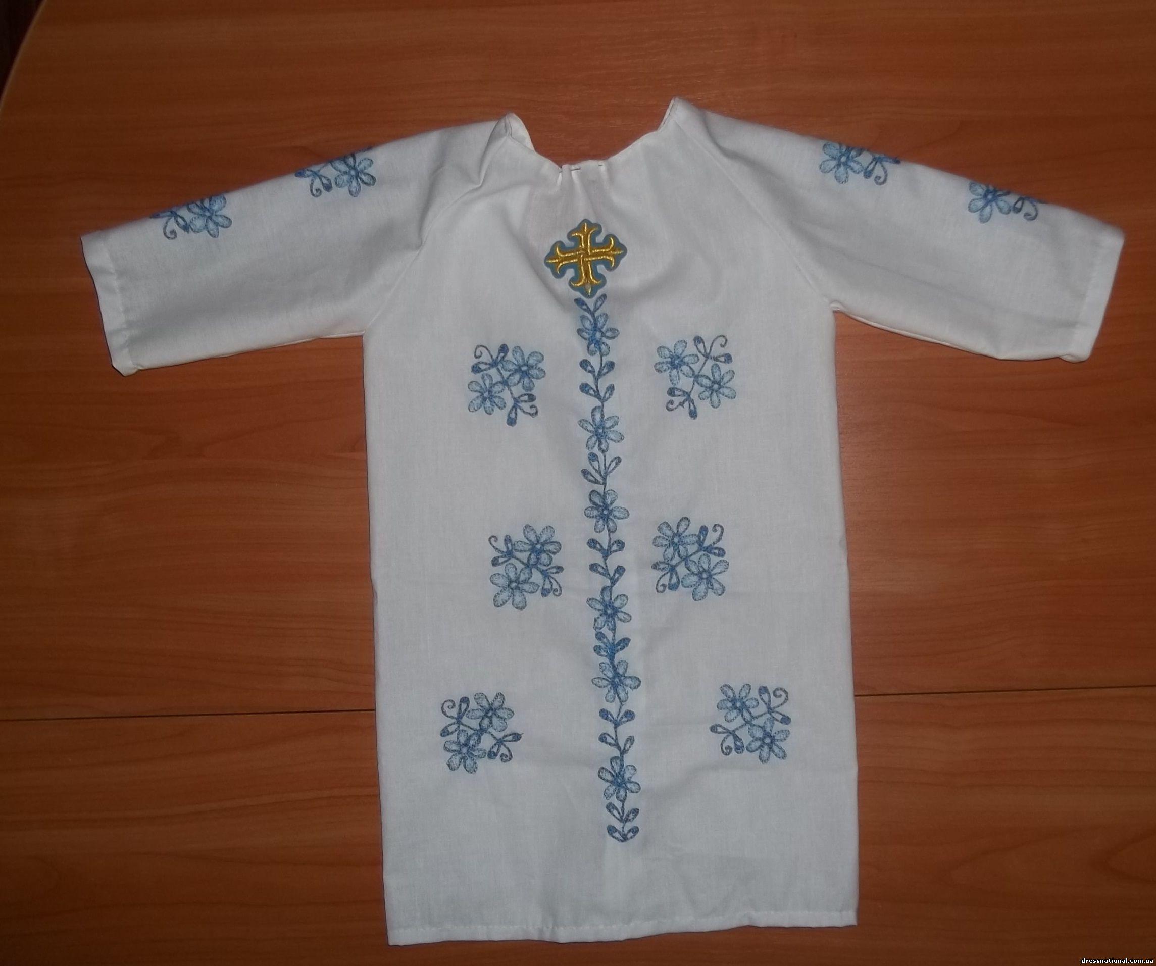 Крестильная рубашка для мальчика выкройка своими руками зигзаг