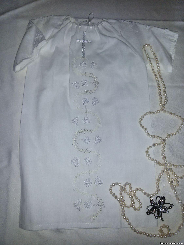 Вышивка на крестильной рубашке девочке 26